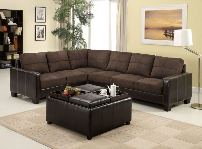 Lavena Chocolate Sectional