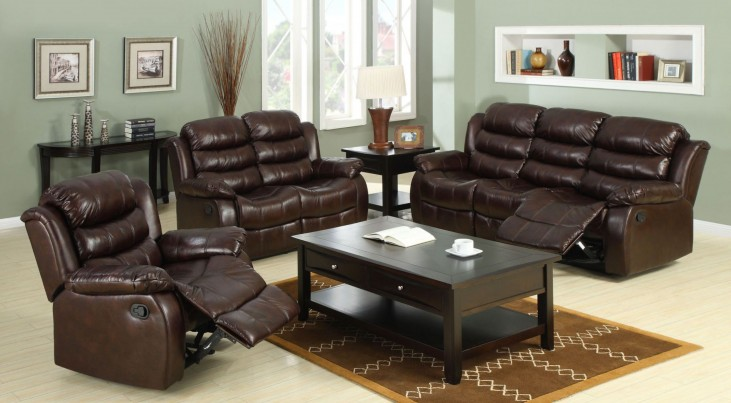 Berkshire Rustic Brown Reclining Living Room Set