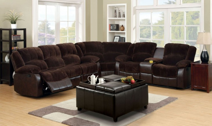 WinChester Brown Reclining Sectional