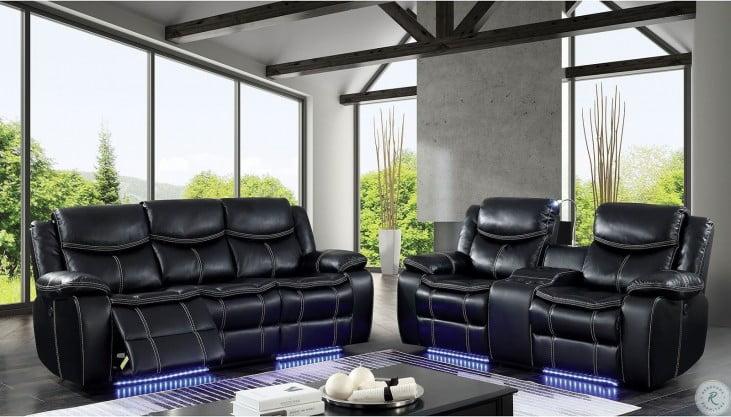 Sirius Black Power Reclining Living Room Set