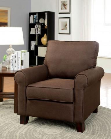 Hensel Brown Flax Fabric Chair