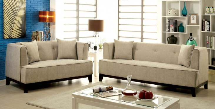 Sofia Beige Living Room Set