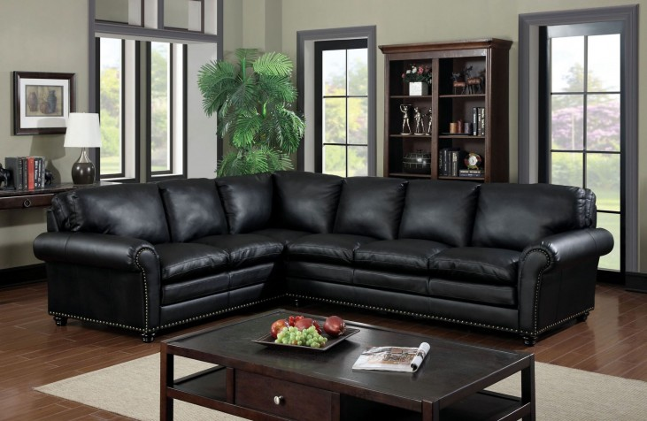 Payette Bonded Leather Match Sectional