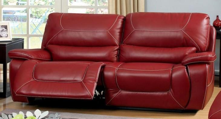 Newburg Red Reclining Sofa