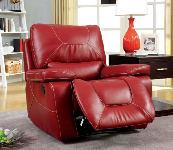 Newburg Red Glider Recliner