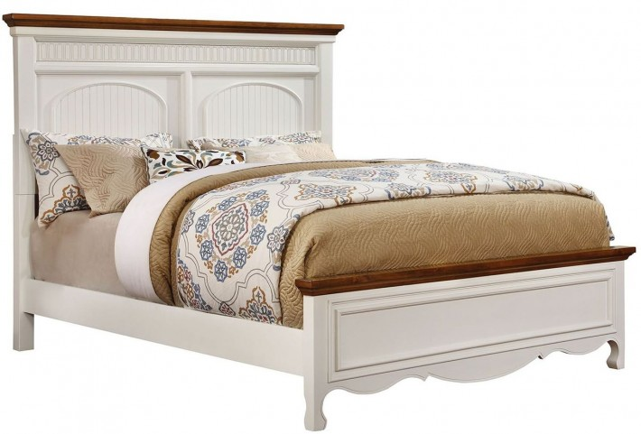 Galesburg White and Oak Cal. King Bed