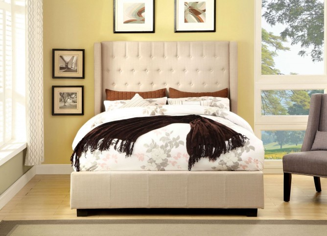 Mira Ivory Cal. King Bed