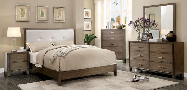 Enrico I Gray Upholstered Bedroom Set
