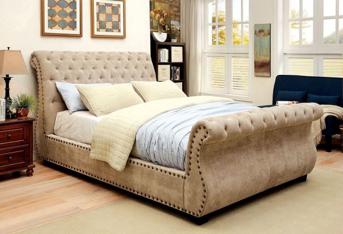 Noemi Queen Upholstered Sleigh Bed