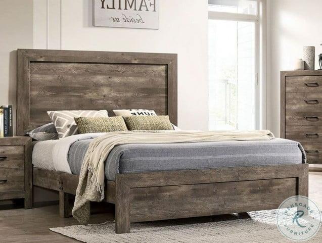 Larissa Natural Tone Queen Panel Bed