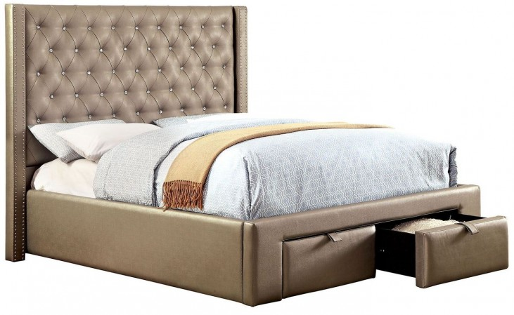 Corina King Upholstered Bed