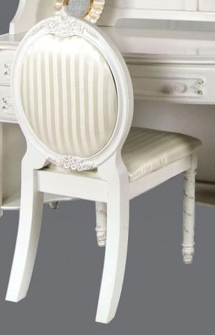 Alexandra Pearl White Fabric Chair
