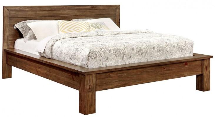 Bairro Reclaimed Pine Wood Queen Bed