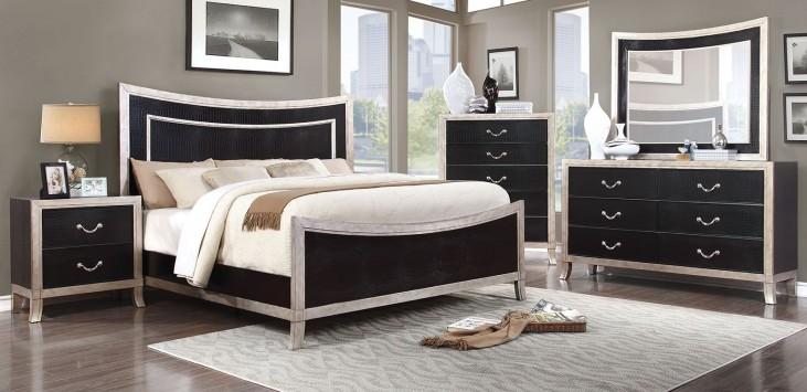 Liza Silver Panel Bedroom Set