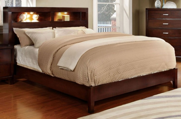 Gerico I Brown Cherry Queen Bed