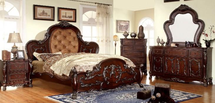 Castlewood Cherry Platform Bedroom Set