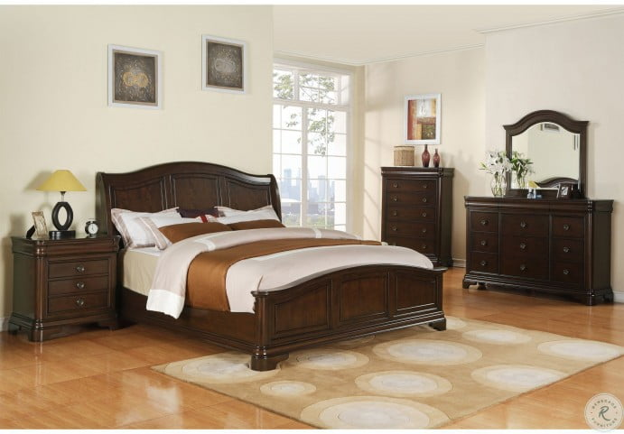 Conley Cherry Panel Bedroom Set
