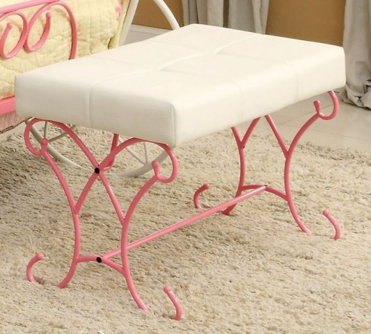 Enchant Pink and White Bench