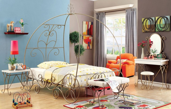 Enchant Champagne Youth Bedroom Set