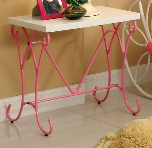 Enchant Pink And White Nightstand