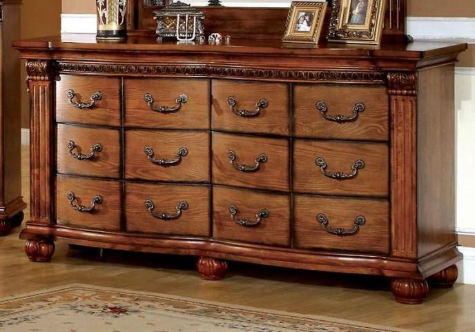 Bellagrand Antique Tobacco Oak Dresser
