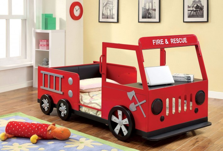 Rescuer Fire Truck Twin Bed