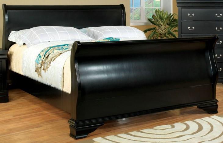 Laurelle Black Cal. King Sleigh Bed