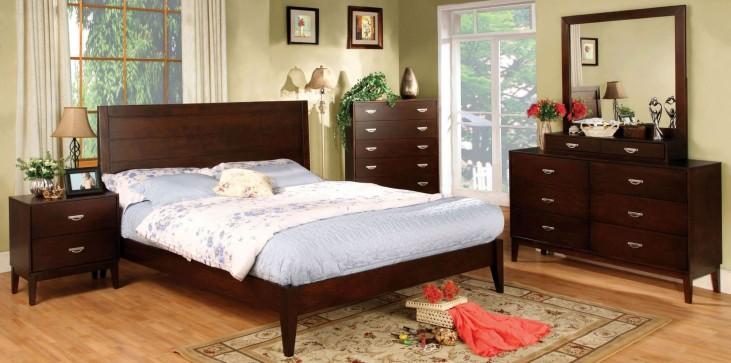 Crystal Lake Brown Cherry Platform Bedroom Set