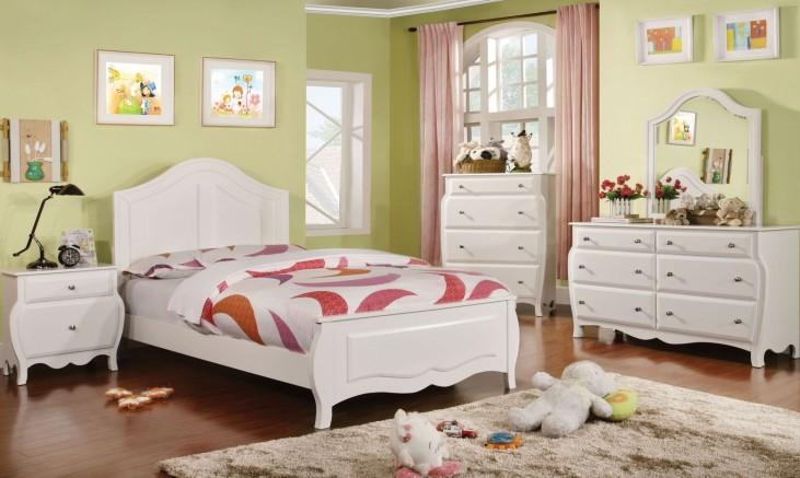 Roxana White Youth Panel Bedroom Set