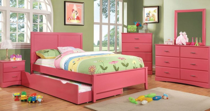 Prismo Pink Youth Platform Bedroom Set