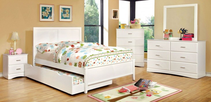 Prismo White Youth Platform Bedroom Set