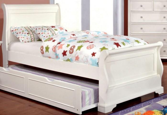 Mullan White Full Sleigh Bed