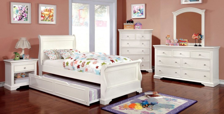 Mullan White Youth Sleigh Bedroom Set