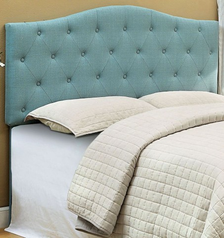 Alipaz Blue Flax Fabric Full/Queen Size Headboard