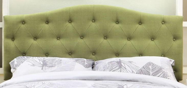 Alipaz Green Flax Fabric Full/Queen Size Headboard