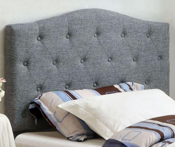 Alipaz Gray Flax Fabric Full/Queen Size Headboard