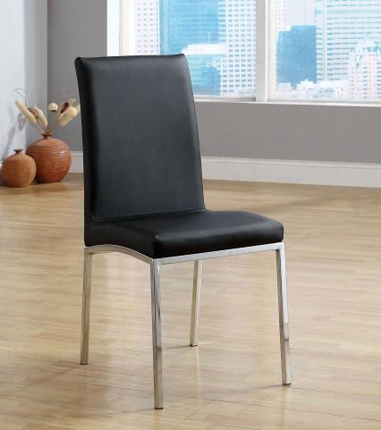 Kauai Black Leatherette Side Chair Set of 6
