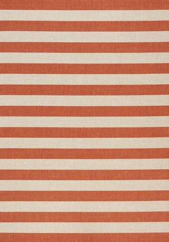 Coast Red/Cream Stripes Flatweave Medium Rug