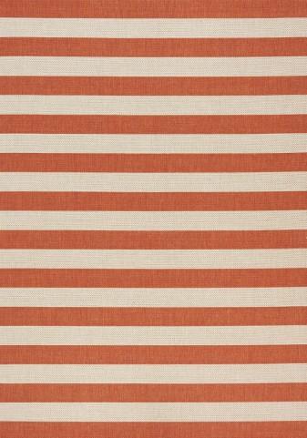 Coast Red/Cream Stripes Flatweave Small Rug