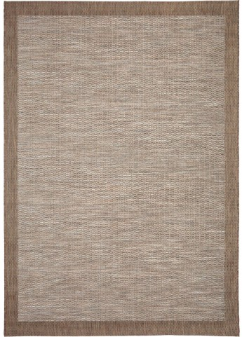 Orian Rugs Indoor/Outdoor Stripes Admiral Sky Gray/ Brown Area Small Rug