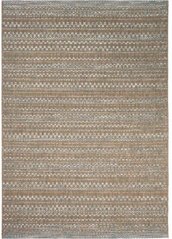 Orian Rugs Indoor/Outdoor Border Aegean dark blue/ brown Area Large Rug