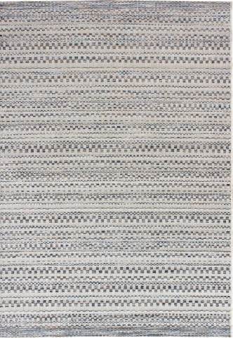 Breeze Indoor/Outdoor Stripes Aegean Dark Blue and Ivory Small Area Rug