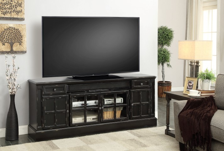 """Concord Vintage Coal 72"""" TV Console With Power Center"""