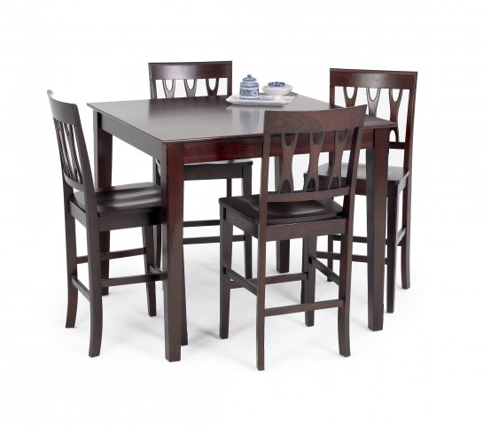 Abbie Bordeaux Counter Dining Room Set