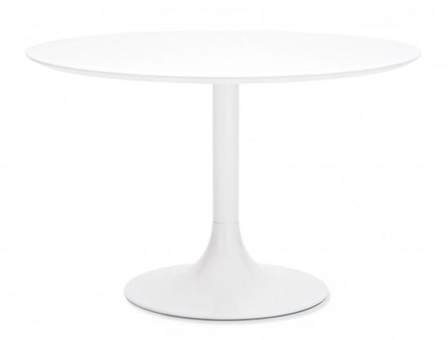 Corona White Glass Round Table