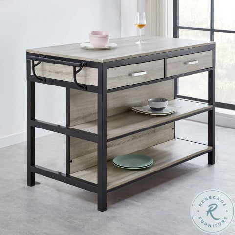 Carson Weathered Driftwood Counter Height Kitchen Table