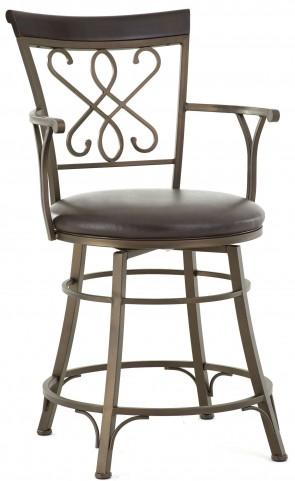 Carmona Jumbo Bonded Leather Swivel Bar Chair