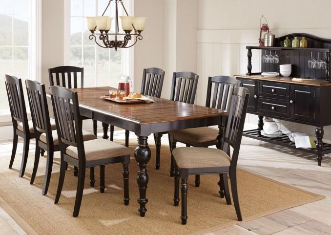 Carrolton Medium Oak Extendable Rectangular Dining Room Set