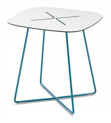 Cross Turquoise Low Square Coffee Table