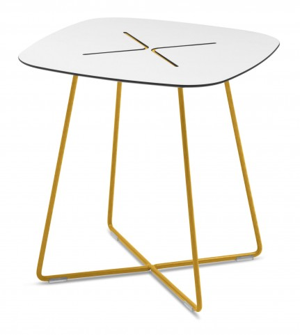 Cross Mustard Low Square Coffee Table